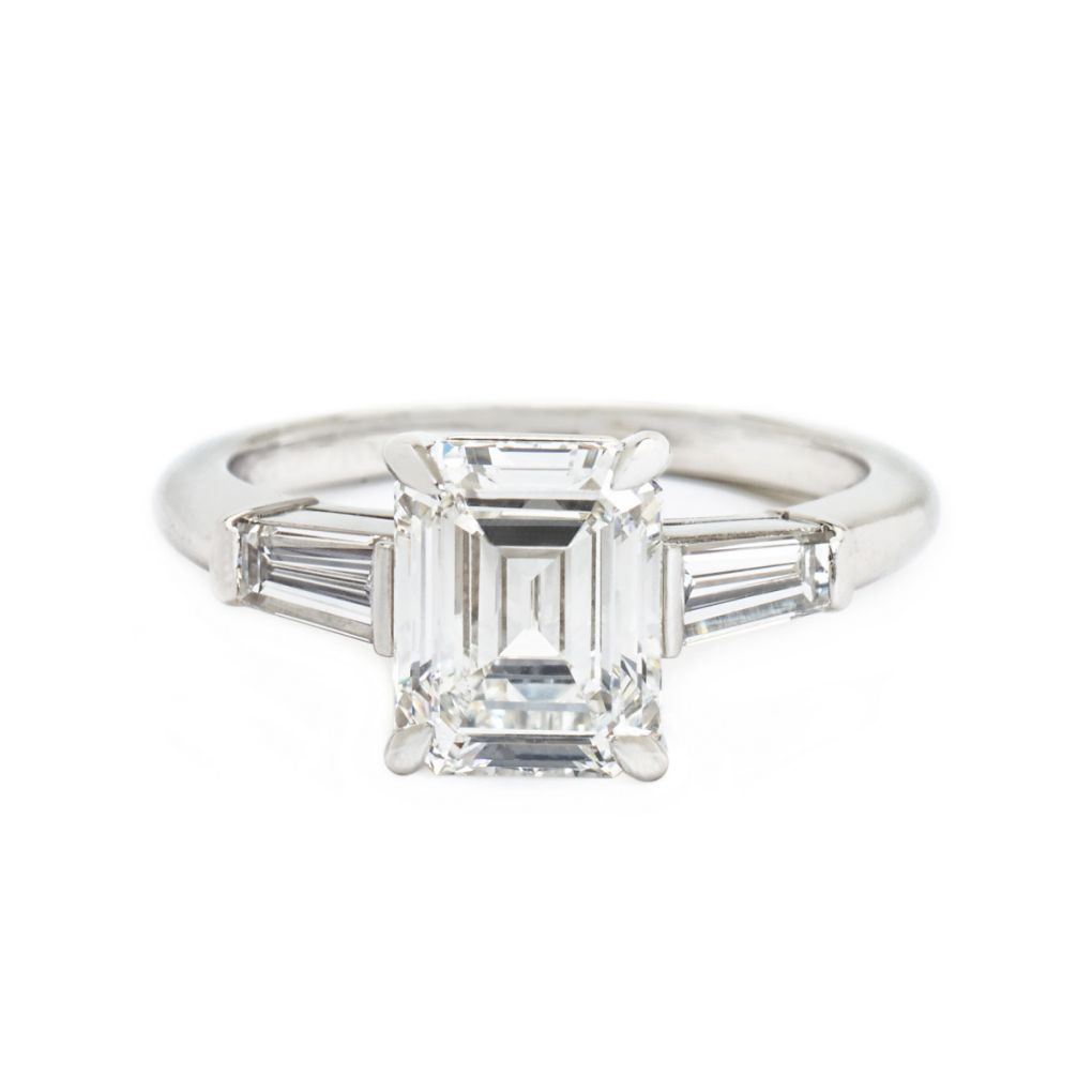Tiffany Co Emerald Cut Tapered Baguette Diamond Ring